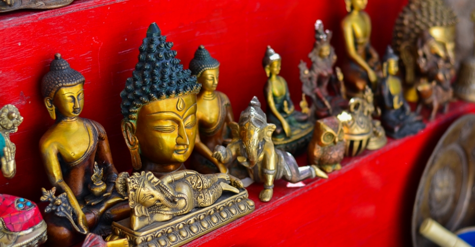 Buddhas in the Leh market
