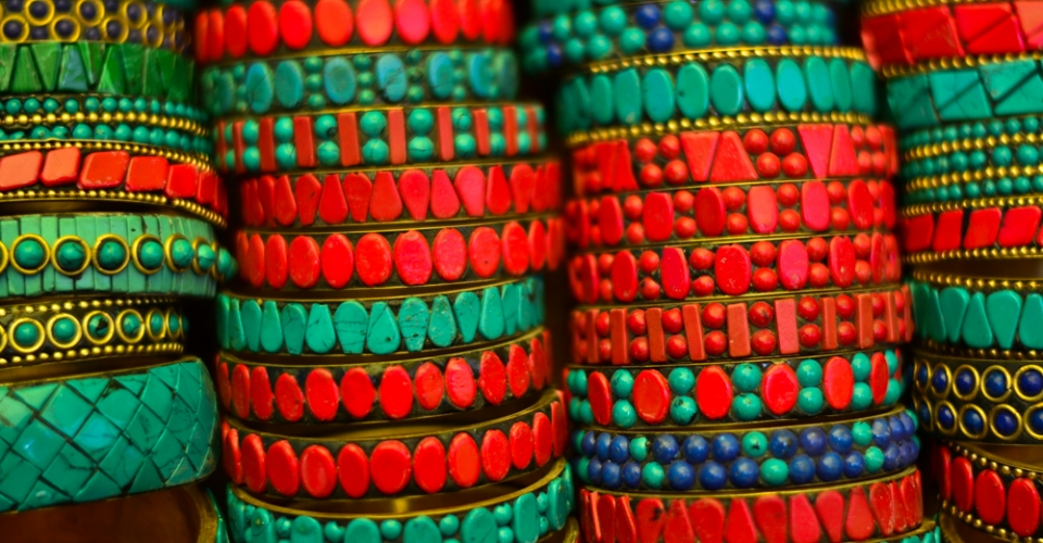 Colorful Bangles in the Leh market