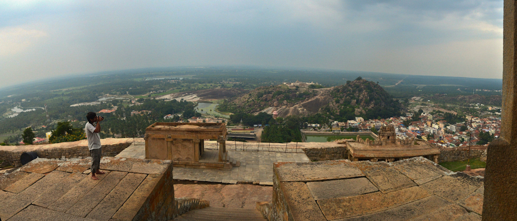 Panoramic view of Sravanabelagola