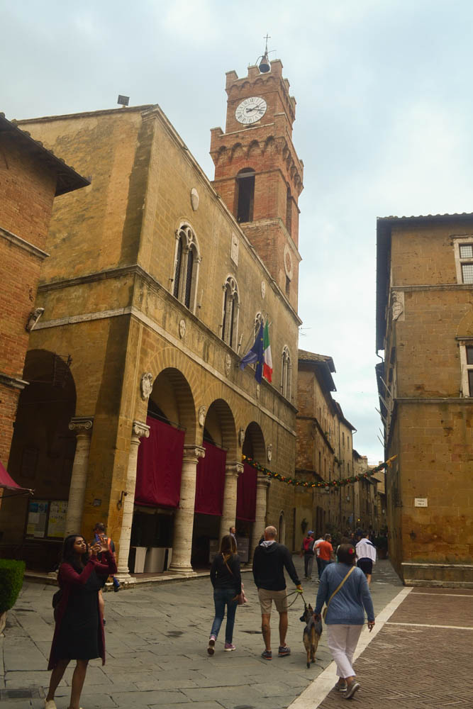 Pienza's famous square - the realization of Renaissance perfection apparently