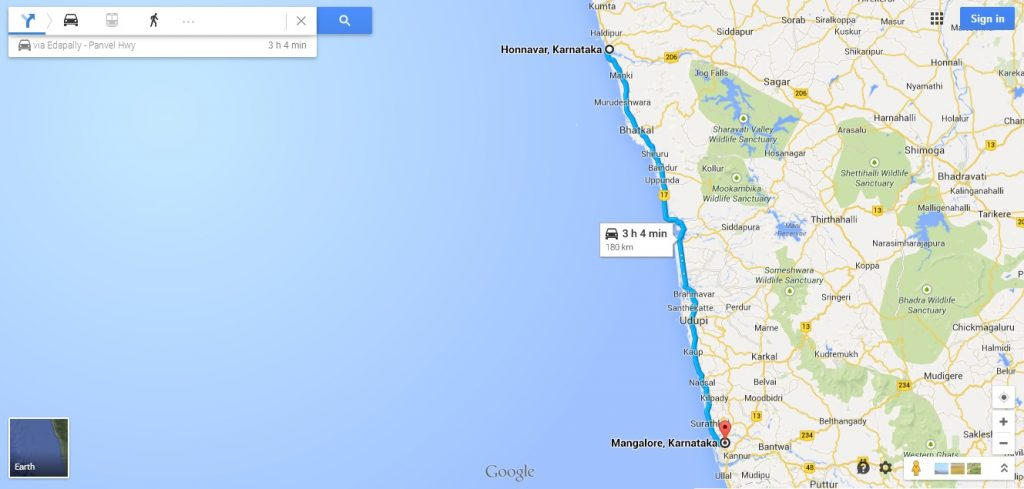 Road trip along the Karnataka coastline