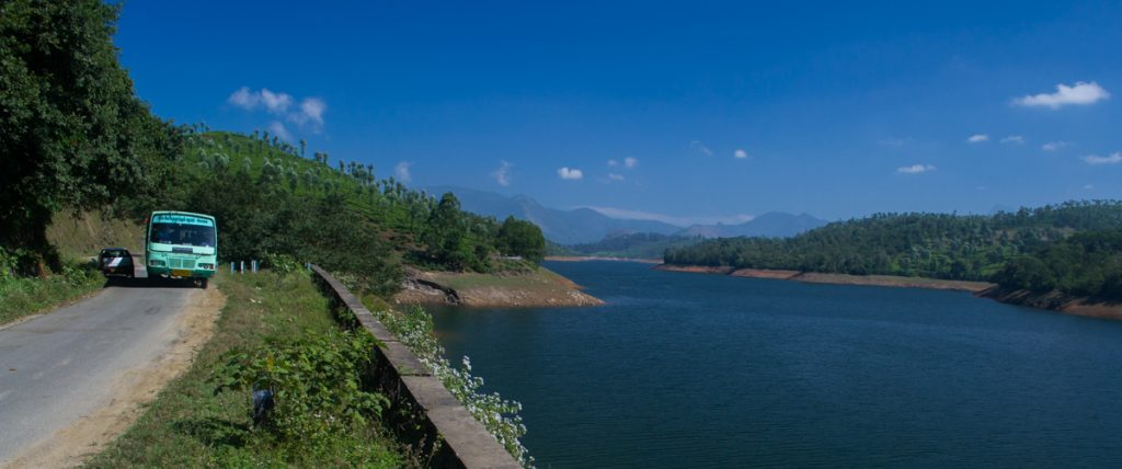 Sholayar reservoir in Valparai