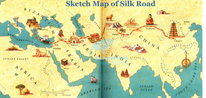 Sketch Map of the ancient Silk Road