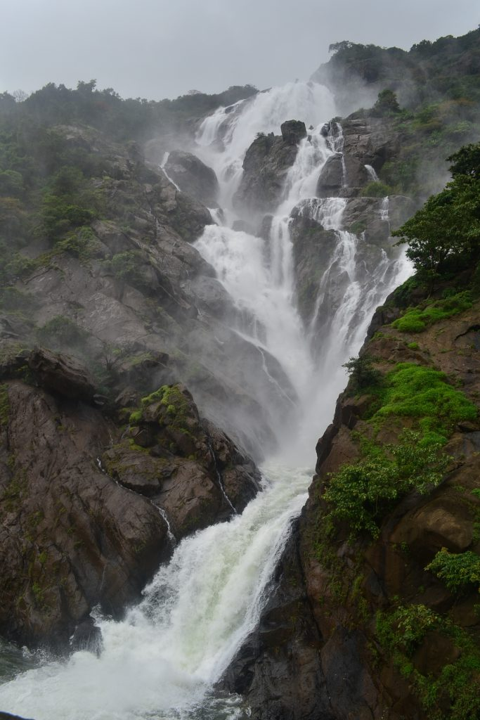Dudhsagar falls from up close