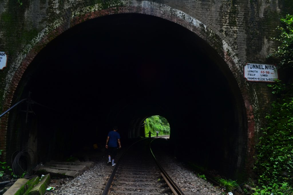 Numerous tunnels enroute to Dudhsagar falls