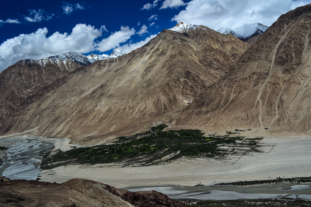 Shyok on the way to Nubra