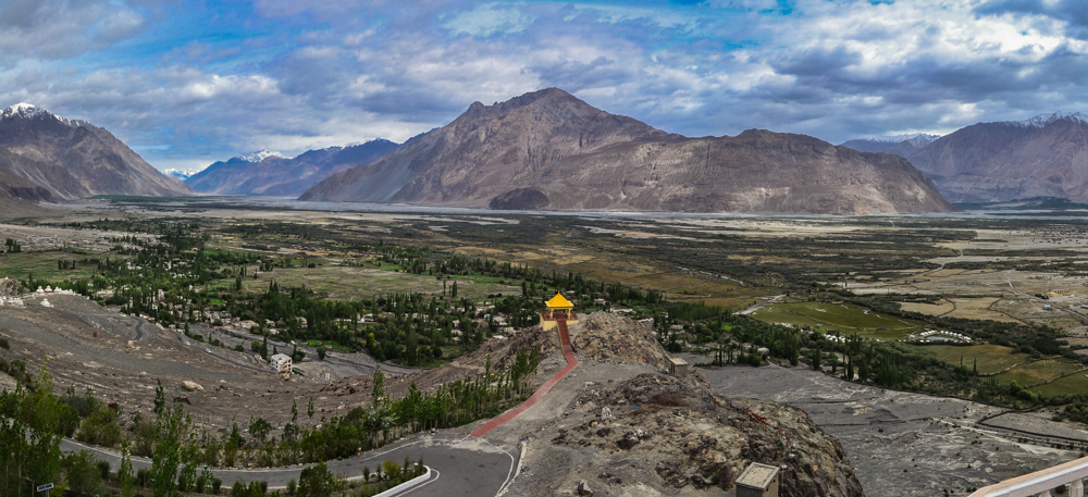 Nubra valley from Diskit Gompa