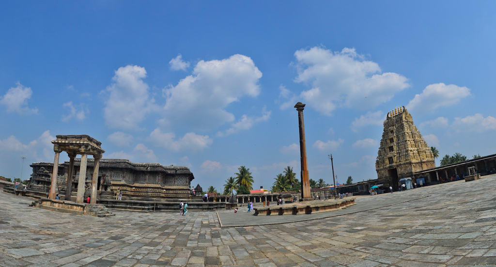 Panoramic view of the Chennakesava temple Belur