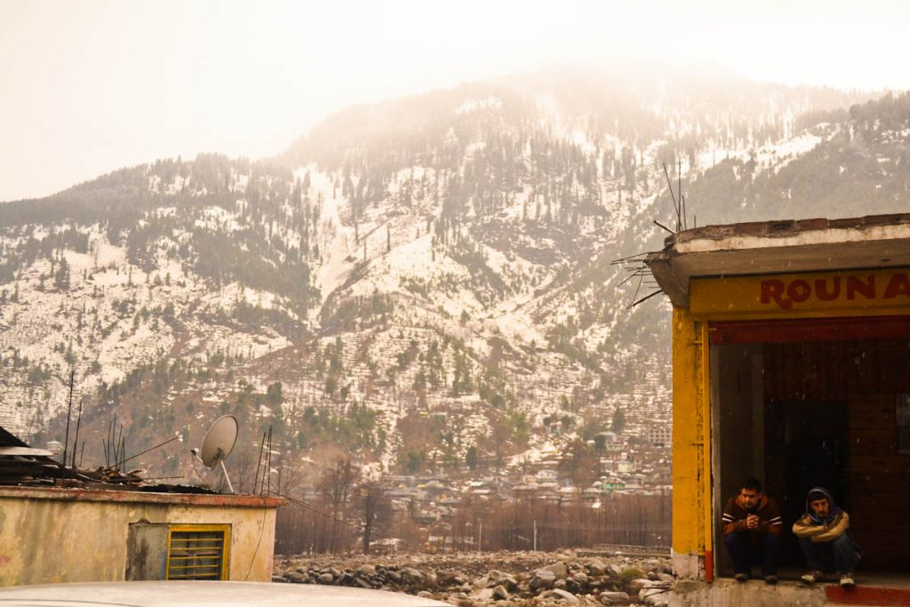 First snow in Manali