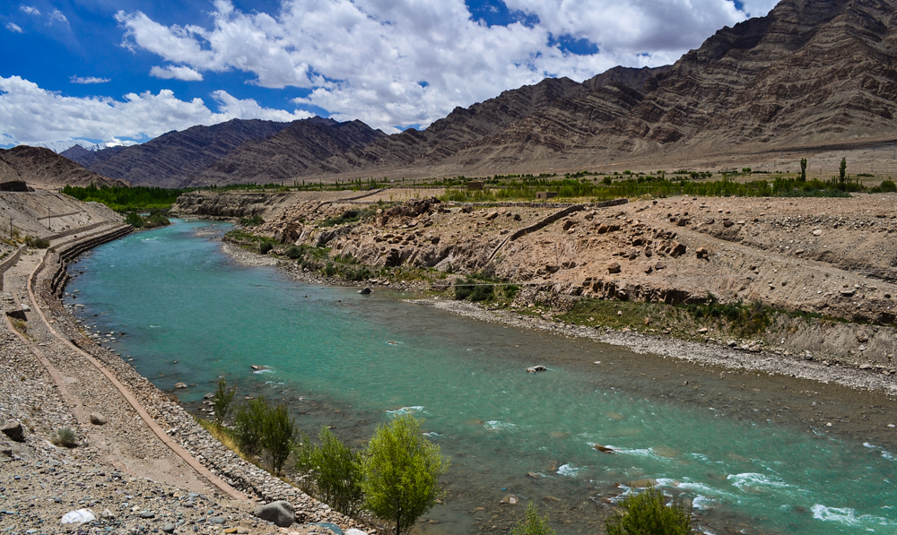 Indus river in Ladakh enroute the Leh-Chang La