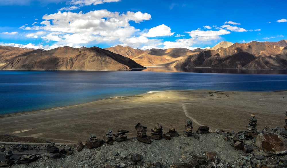 First view of Pangong Tso