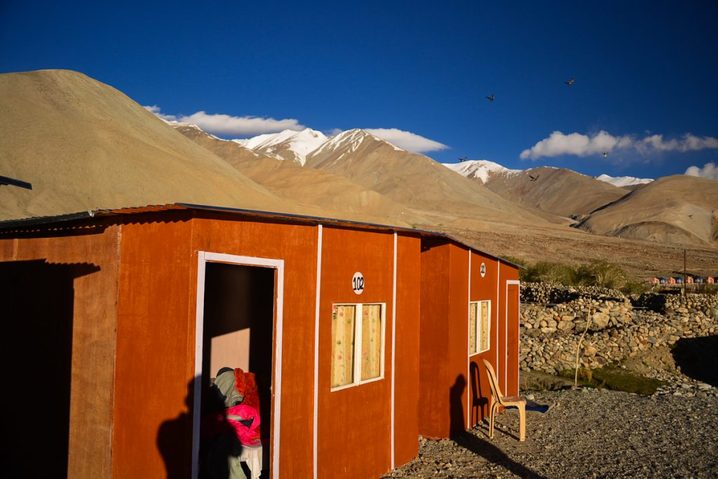 Himalayan Wooden Cottages at Pangong Tso