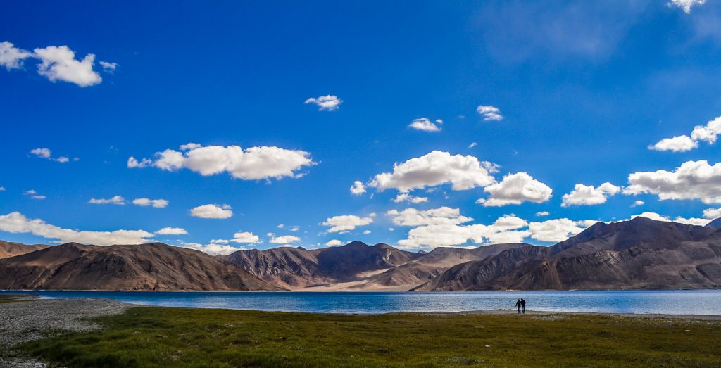 Morning stroll near Pangong