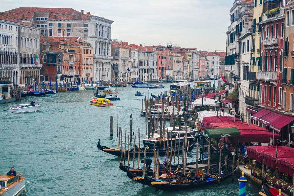 View from the Rialto bridge, Venice