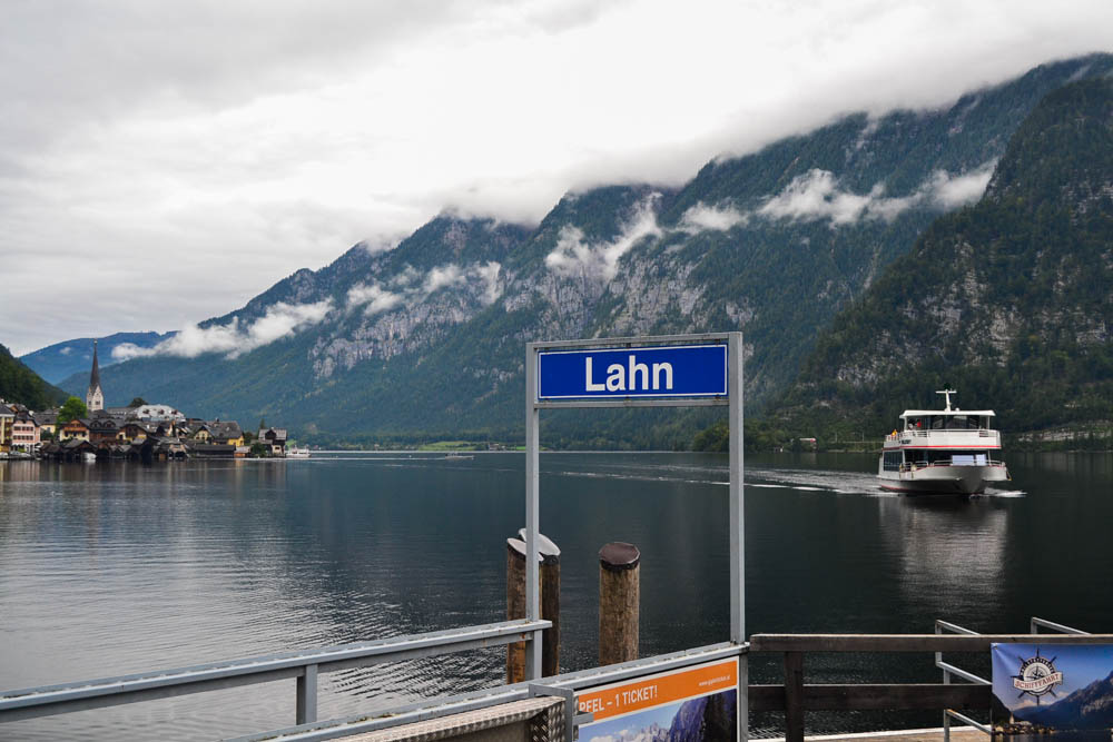 Hallstatt Lahn the ferry terminal