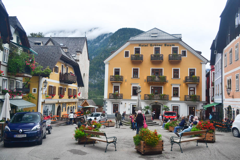 Market square in Hallstatt