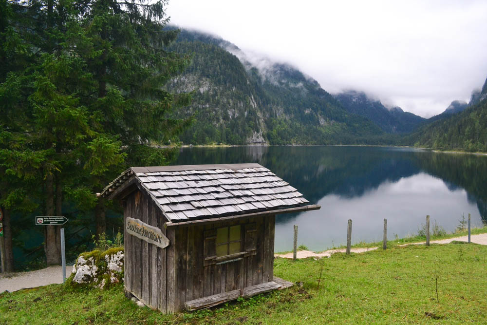 Hut beside Gosausee