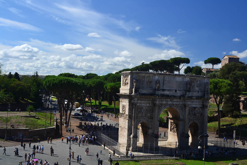 The Arch of Constantine viewed from the Colosseum