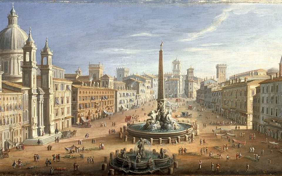 A view of the Piazza Navona, Rome wikidata:Q19904829 Description English: Holland, circa 1730